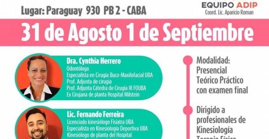 Diagnostico y Tratamiento de disfunciones de ATM 31 Agosto y 1 Septiembre 2019 Buenos Aires